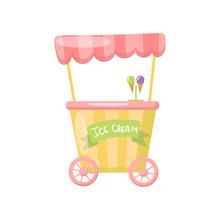 Ice Cream Cart On Wheels, Food...