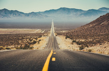 Classic Highway Scene In The American West, USA