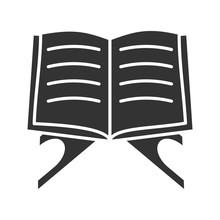 Open Quran Book Glyph Icon
