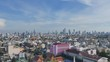 aerial view cityscape in Bangkok Thailand. many new high modern buildings in Bangkok