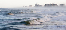Waves And Fog On Daytona Beach...