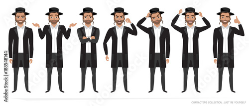 Fotografía jew vector character isolated on white background