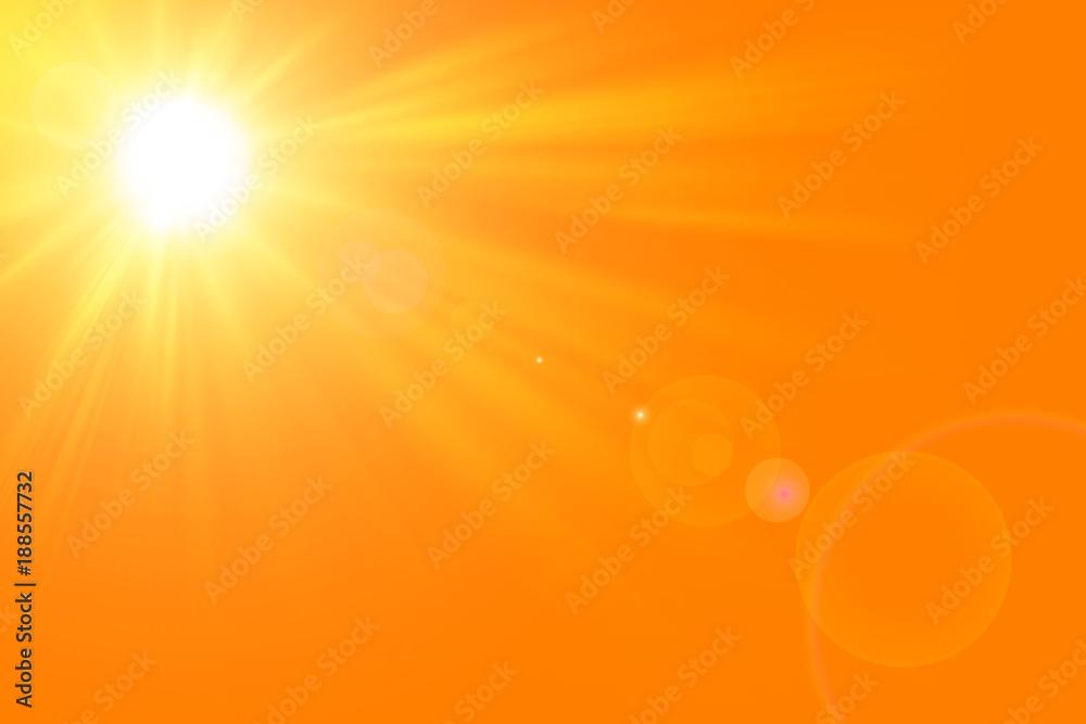 Fototapety, obrazy: Sfondo astratto soleggiato di estate di natura con il sole splendente