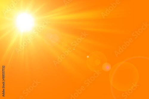 obraz lub plakat Sfondo astratto soleggiato di estate di natura con il sole splendente