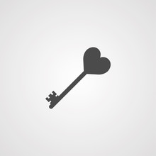 Key With Heart Valentines Day ...