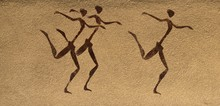 Historic African Tribal Wall Mural Background