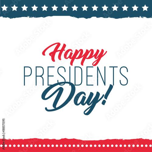 Happy presidents day label Fotomurales