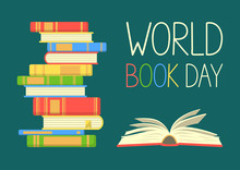 World Book Day. Stack Of Color...