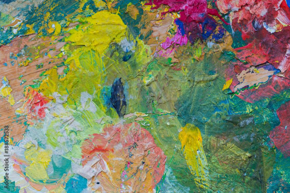 Fototapeta close up of colorful painting