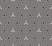 Vector Seamless Pattern. Modern Stylish Abstract Texture. Repeating Geometric Tiling From Striped Elements