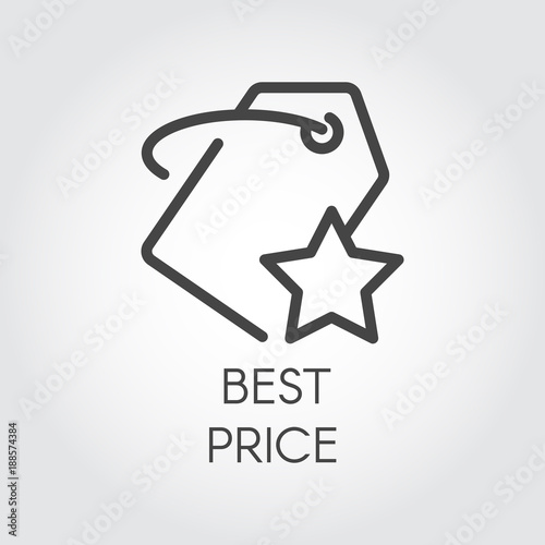 Photo  Line icon for online orders and purchases for best price