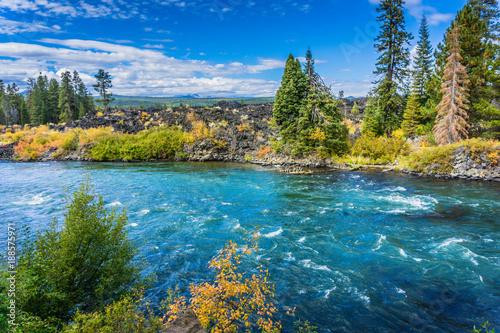 Photo sur Toile Rivière de la forêt Beautiful Deschutes River close to Bend Oregon