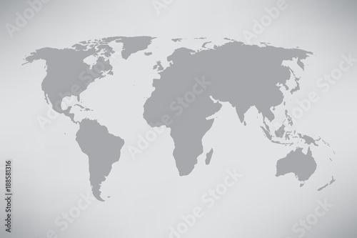 Montage in der Fensternische Weltkarte World map Illustration
