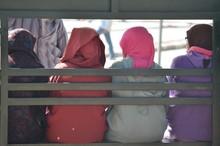 Women With Djellaba In The City Of Marrakech.
