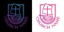Template Christian Logo, Emble...