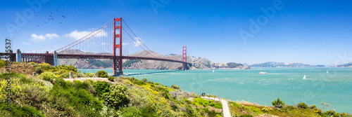 Photo sur Toile San Francisco Golden Gate Bridge in San Francisco