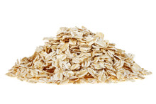 Oat Flakes Isolated On White B...
