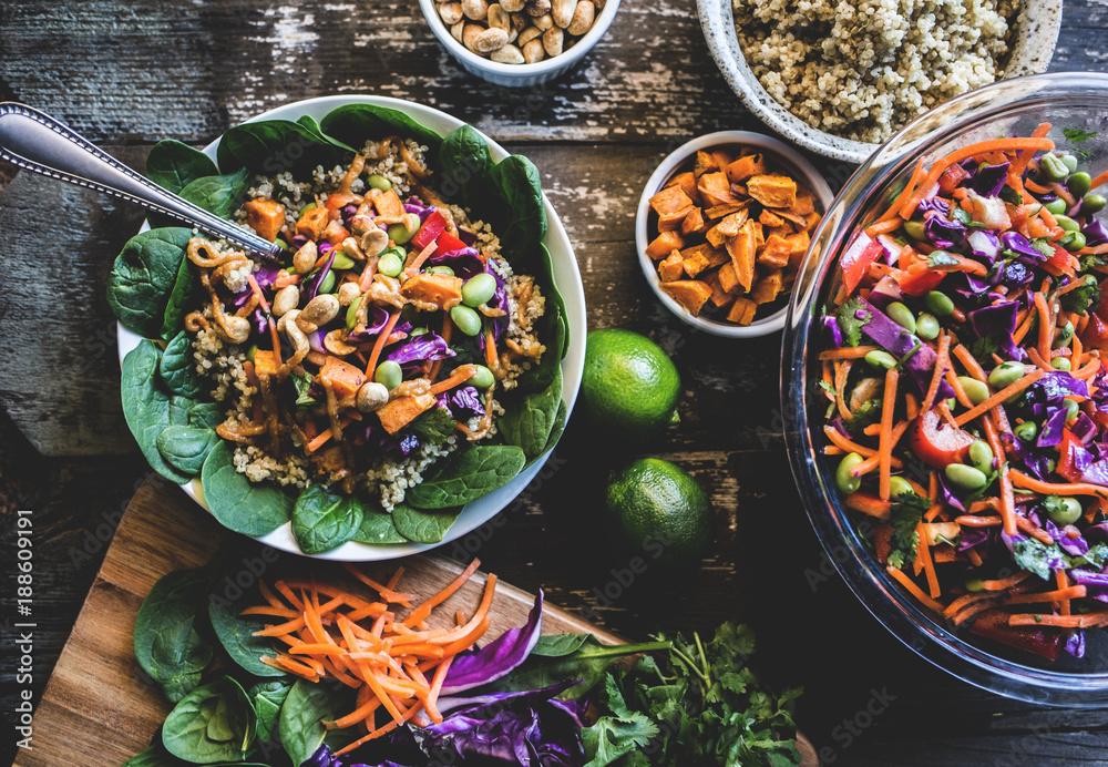 Fototapety, obrazy: Veggie Bowl over Coconut Quinoa