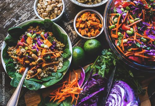 Photo  Veggie Bowl over Coconut Quinoa