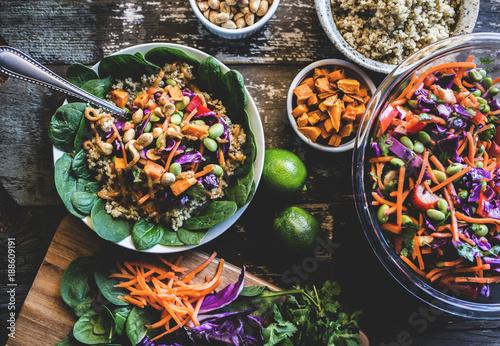 Veggie Bowl over Coconut Quinoa Canvas Print
