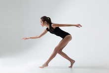 Young Beautiful Woman Dancer
