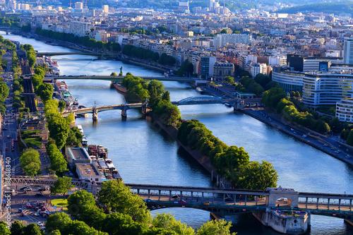 Foto op Aluminium Kust Scenic panorama of Paris from Eiffel tower