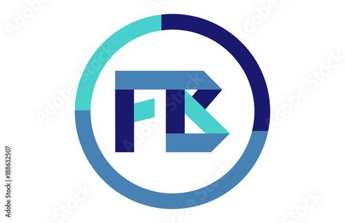 Fb Global Circle Ribbon Letter Logo Buy This Stock Vector And