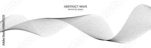 Abstract wave element for design Wallpaper Mural