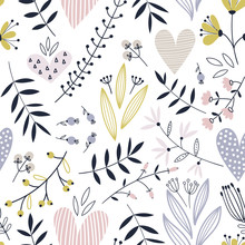 Romantic Seamless Vector Floral Pattern
