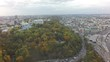 aerial view of Kiev at autumn, raw, 4K