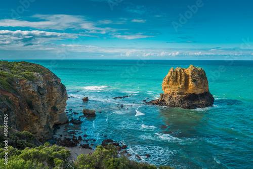 Eagle Rock Australian   coastal landscape limestone formation near Split Point, Canvas Print