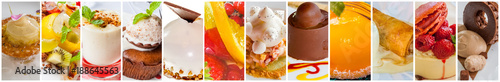 banderole de desserts Fototapet