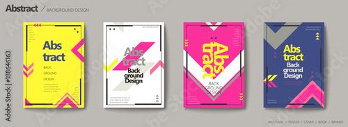 Zestaw broszur w stylu geometrycznym