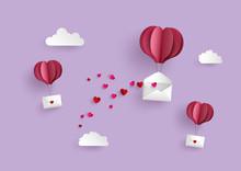 Paper Hot Air Balloon Heart Sh...