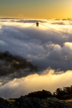 Fog Over The Golden Gate Bridge