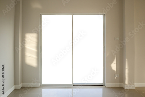 Steel white window frame home interior on paint wall - Buy this ...