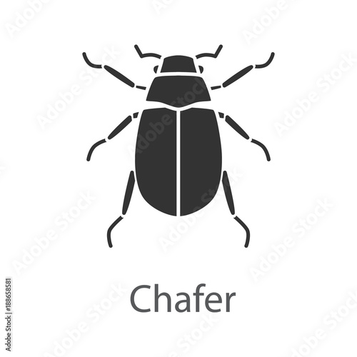 Canvas-taulu European chafer glyph icon