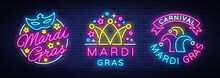 Mardi Gras Set Of Design Templ...