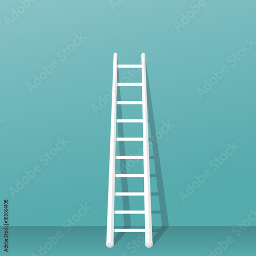 Obraz na plátně Ladder stands near the wall