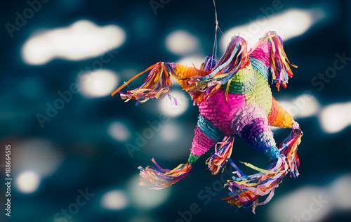 Fotografía  Colorful mexican pinata used in birthdays and posadas