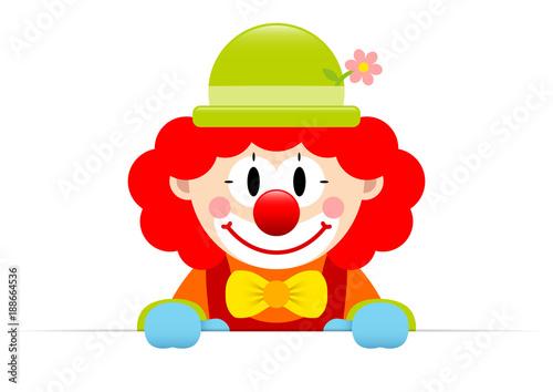Clown Red Hair Banner Canvas