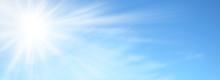 Sole Splendente Nel Cielo Azzu...