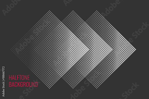 Valokuva  Monochrome printing raster, abstract vector halftone background