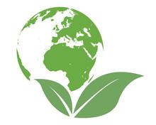 Eco World Green Vector Logo
