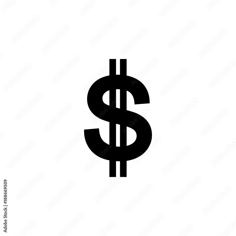 Fototapeta dollar sign icon. Element of money symbol icon. Premium quality graphic design icon. Baby Signs, outline symbols collection icon for websites, web design, mobile app