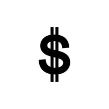 Dollar Sign Icon. Element Of M...