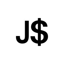 The Dollar Sign Of Jamaica Ico...