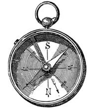 Compass - Vintage Engraving Il...
