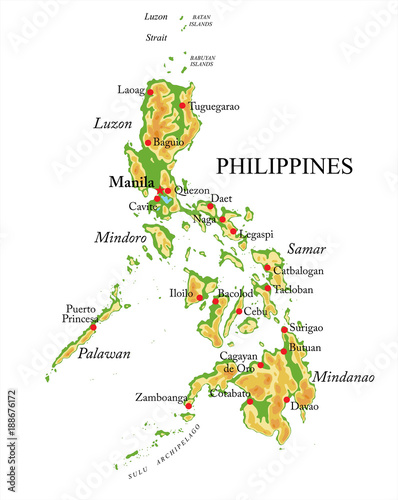 Photo  Philippines relief map