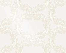 Damask Golden Pattern Vector I...